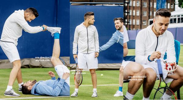 le 17 juin 2015 - Liam et Sophia au championnat de tennis AEGON à Londres