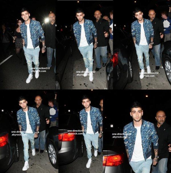 le 10 aout 2015 - Zayn assiste fête d'anniversaire de Kylie à LA
