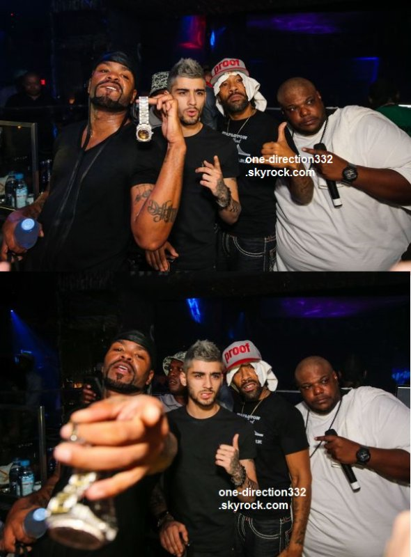 le 16 aout 2015 - Zayn partis avec Method Man et Redman au vulpin Nightclub à Las Vegas