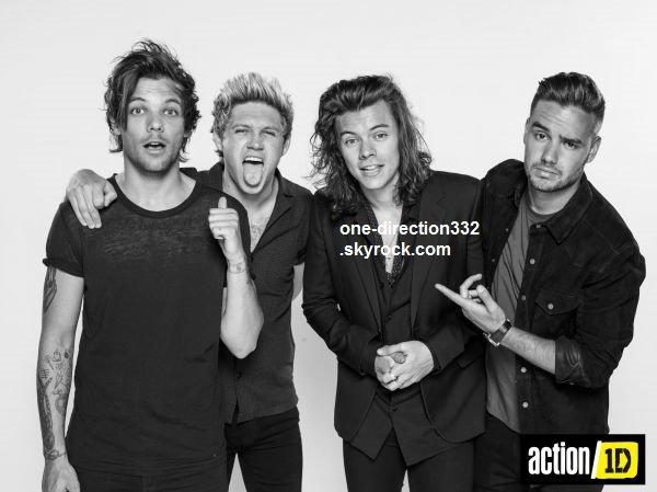 voici des nouvelle photo du shoot des boys pour la Campagne pour un soutien de Direction 'action 2015'