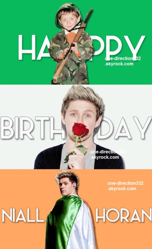 le 13 septembre 2015 - happy birthday naill james horan 22 ans