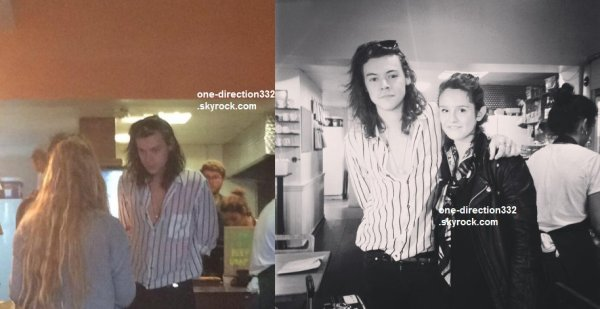 le 27 septembre 2015 - harry dans un restaurant à londres