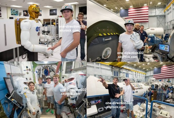 flash-back - le 21 aout 2014 - Niall au Johnson Space Center à Houston