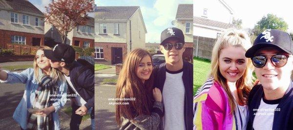 le 16 octobre 2015 - niall avec des fan à dublin
