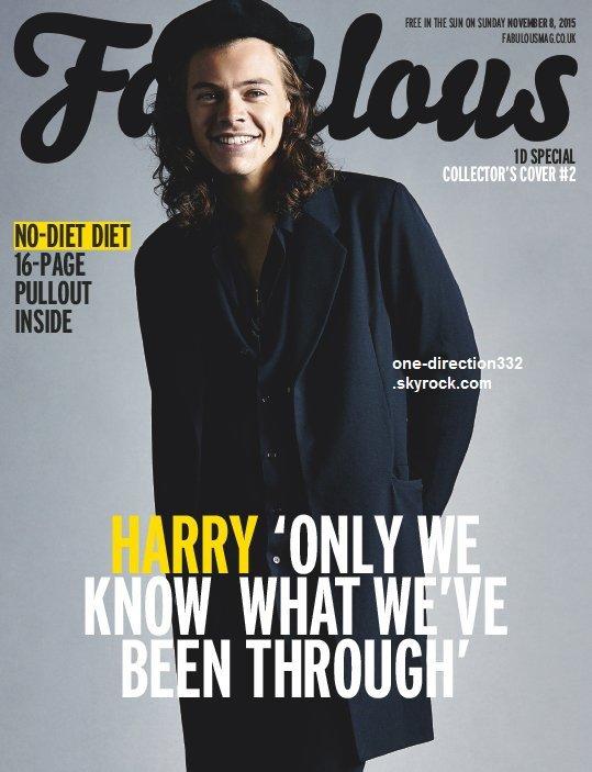 harry pour la couverture pour le magazine Fabulous 2015