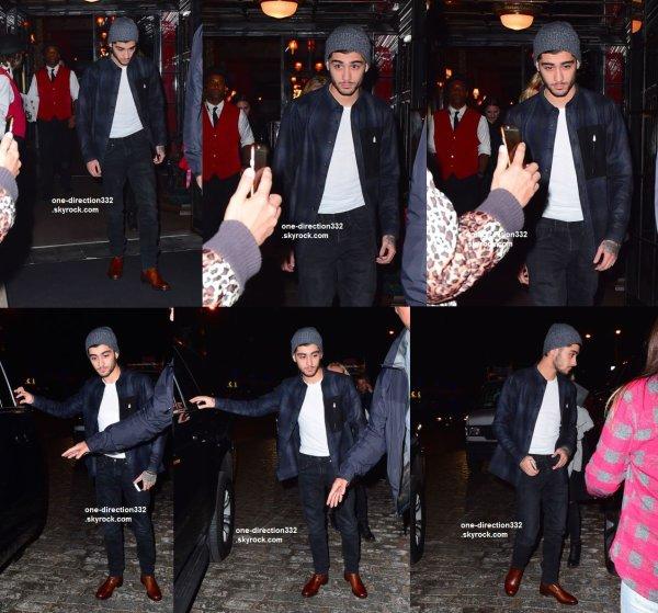 le 11 novembre 2015 - Zayn dehors et environ à New York