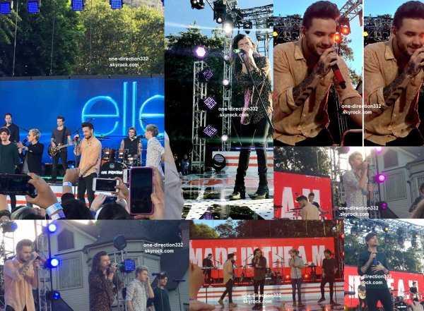 le 17 novembre 2015 - les boys on était performance au Ellen à los angeles