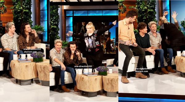 le 17 novembre 2015 - les boys chez Ellen à los angeles