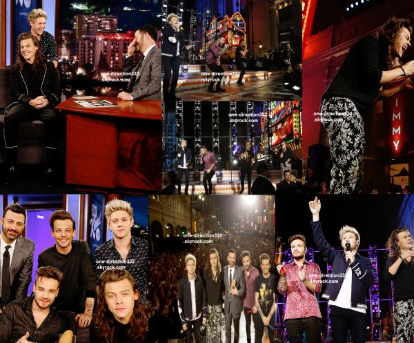 le 19 novembre 2015 - les boys soundchecking au Jimmy Kimmel Live