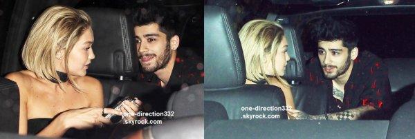 le 22 novembre 2015 - Zayn et Gigi dans LA