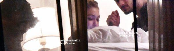 date inconnue 2015 - zayn et gigi dans leur hotel a los angeles