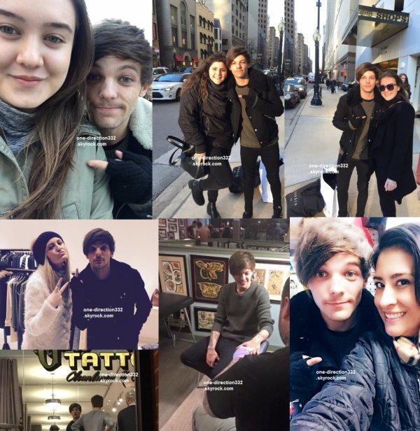 le 19 décembre 2015 - louis avec des fan à chicago