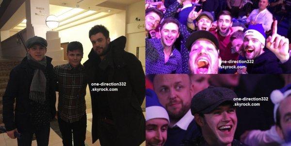 le 2 janvier 2016 - Niall au Championnat mondial de fléchettes Colline William à Londres
