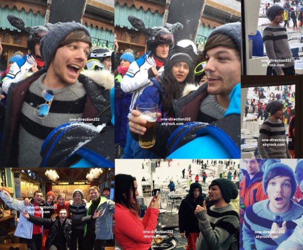 le 6 janvier 2016 - louis et sa copine danielle campbell au ski de Val d'Isère