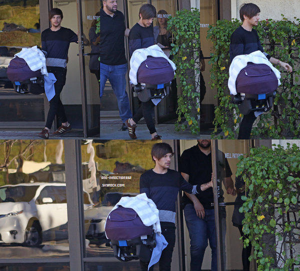Le 25 janvier 2016: Louis arrivait à l'appartement de Briana, à Los Angeles.