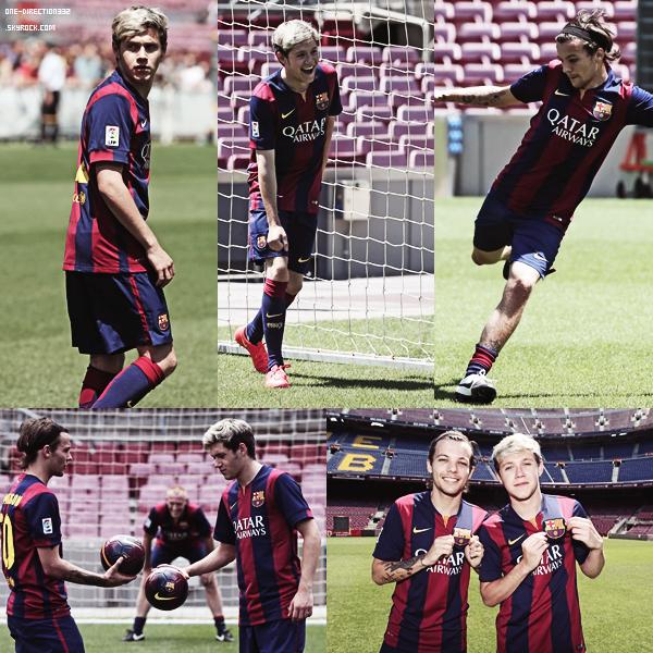 Nouvelles photos de Louis et Niall au stade Camp Nou à Barcelone, le 8 juillet 2014.