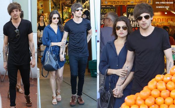 Le 20 février 2016: Louis a été vu avec sa chérie Danielle Campbell mangeant de Bristols à Hollywood.