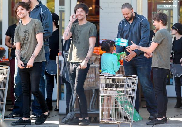 Le 21 février 2016: Louis a été vu au Bristol Farms, à Hollywood.