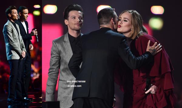 Le 24 février 2016: Liam et Louis au the BRIT Awards.