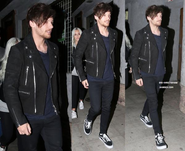 Le 2 mars 2016: Louis a été vu arrivant au Troubadour night club de Los Angeles.