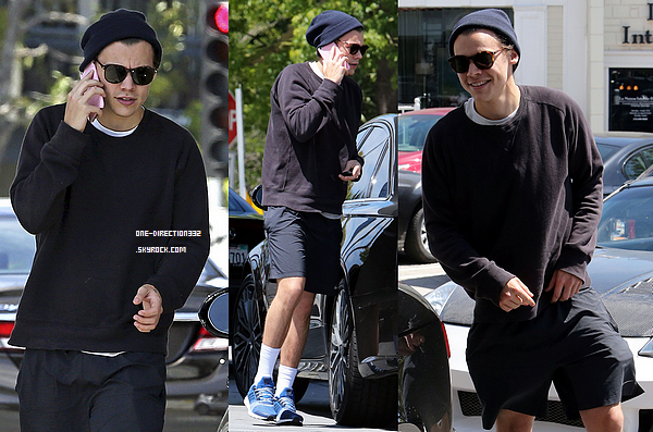 Le 03 avril 2016: Harry dehors dans Brentwood, à Los Angeles