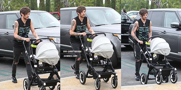 Le 07 avril 2016: Louis a été vu dans les rues de Los Angeles.