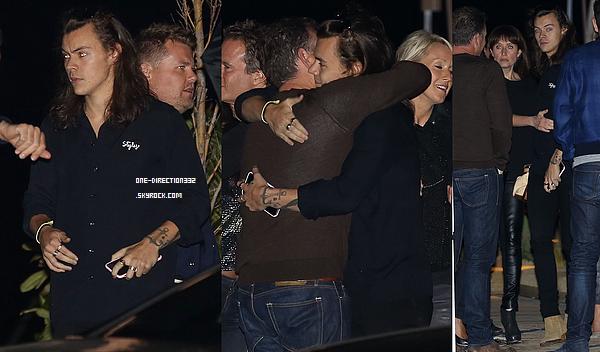 Le 09 avril 2016: Harry a été vu partant du restaurant Nobu à Malibu.