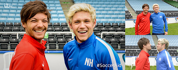 Le 1er juin 2016: Louis et Niall arrivant au The SoccerAid Training.