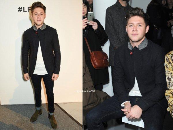 le 7 janvier 2017 - Niall assister au spectacle de Oliver Spencer de la mode à Londres