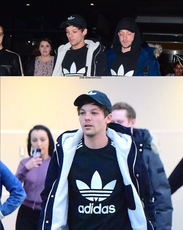 le 23 janvier 2017 - Louis avec des fan à New York