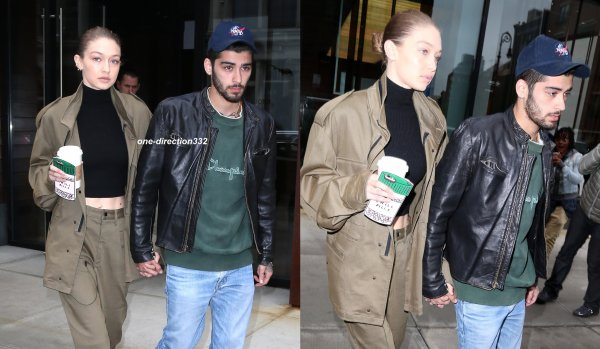 le 25 avril 2017 - zayn et sa chérie gigi dans les rues de New York City
