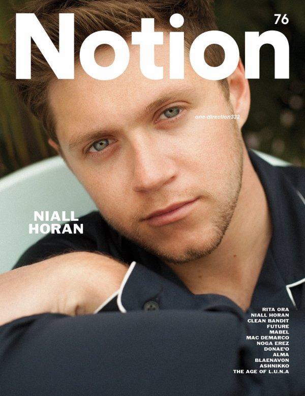 voici un nouveau photoshoot de niall pour Notion Magazine 2017