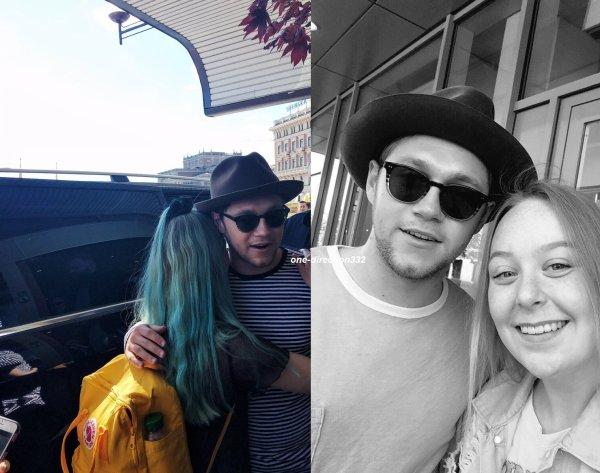 le 14 juin 2017 - niall avec des fan à  Stockholm, Sweden