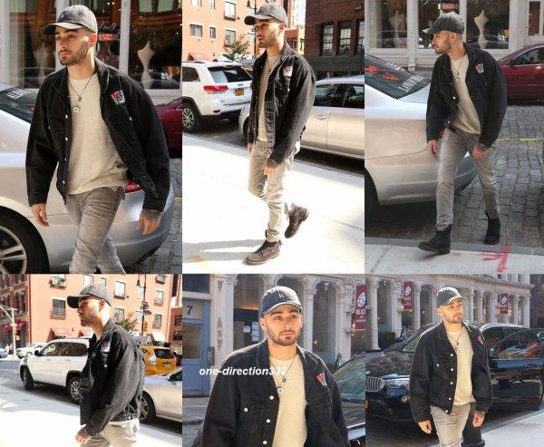 le 15 juin 2017 - zayn quittant son appartement à new york city