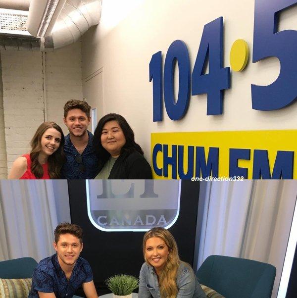 le 19 juin 2017 - niall à fait une radio toronto au canada