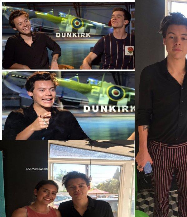 le 7 juillet 2017 - harry à donner un interviews pour son film Dunkirk (2017)