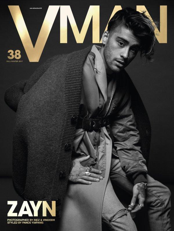 voici un nouveau photoshoot de zayn pour V Man Magazine by Inez & Vinoodh 2017