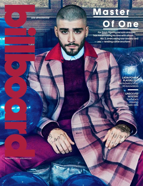voici un nouveau photoshoot de zayn pour Billboard by Ruven Afanador