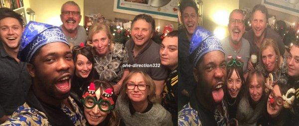 le 25  décembre 2017 - niall à passer noel avec sa familles