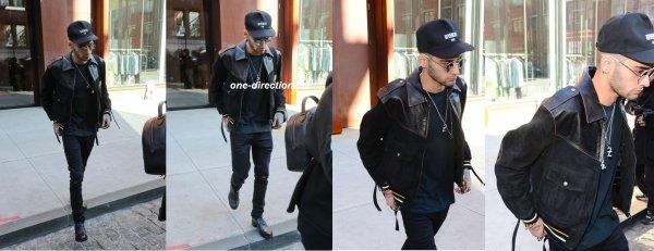 le 15 janvier 2018 - zayn à été vus quittant l'appartement de sa copine gigi à new-york