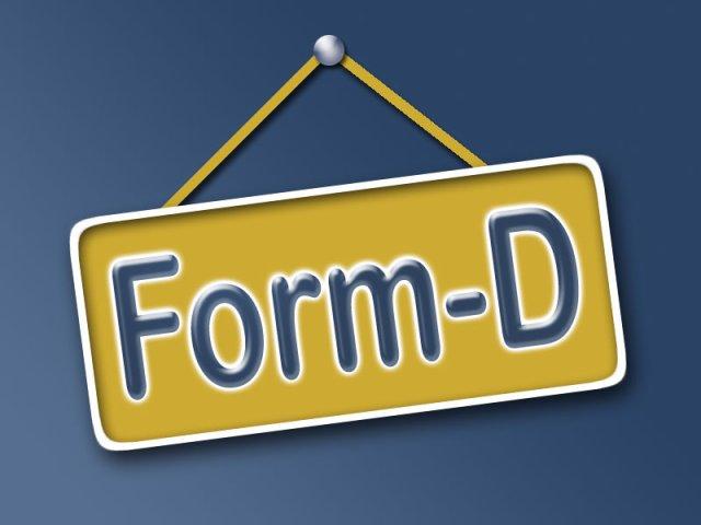 FORM-D