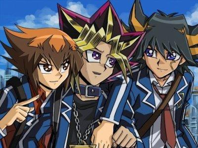 Jaden , Yusei , Yugi