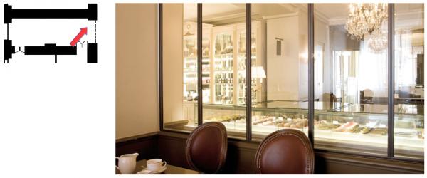 Aile midi - premier étage - Pavillon d'Orléans - 304 Salle restaurant «Angélina»
