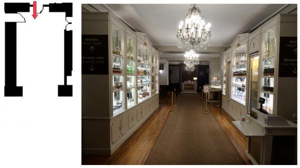 Aile du midi - Premier étage - Pavillon d'Orléans - 260 Restaurant «Angélina» - Couloir d'acceuil