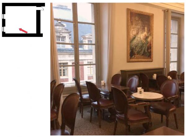 """Aile du midi - Premier étage - Pavillon d'Orléans - 261 Salle restaurant """"Angélina"""""""