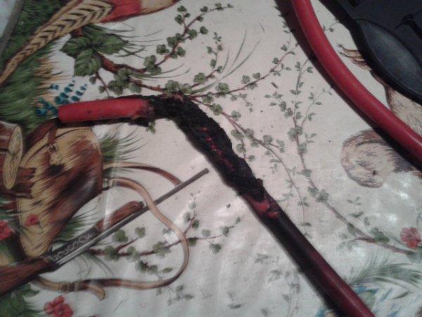 voila letat de mon cable dalim du au feu