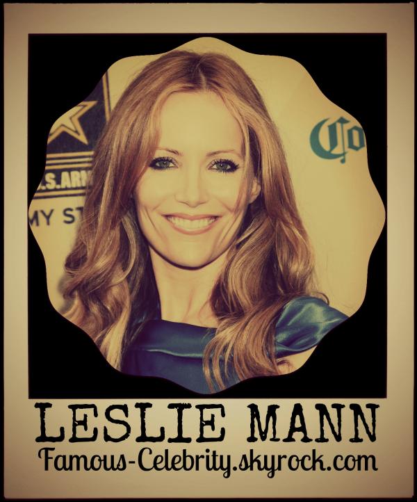 """LESLIE MANN"""