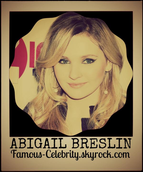 """""""ABIGAIL BRESLIN"""""""