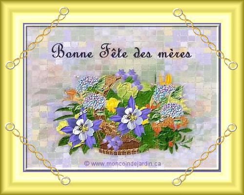 Je souhaite a toutes les Mamans Francaises et  du monde entier une tres bonne fete  !!!