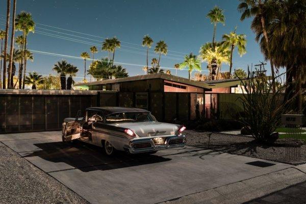 Palm Springs by night